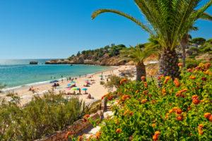 Portugal the Algarve, Praia de Santa Eulalia, Albufeira