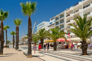 Promenade, Quarteira, Algarve, Portugal