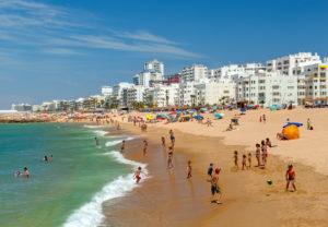 Portugal, Algarve, Quarteira, sandy beach