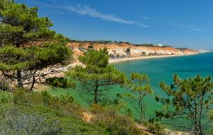 Praia da Falésia, near Albufeira and Vilamoura, Algarve, Portugal