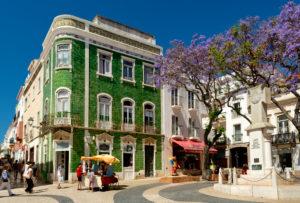 Praca de Luis de Camoes square, Lagos, Algarve