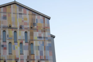 Coloured church in Bolzano,