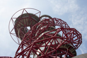 Architecture in Queen Elizabeth Olympic park in London,