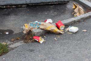 Müll von McDonalds