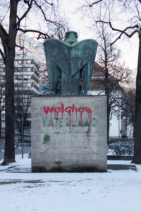 Old nationalist statue in Innsbruck