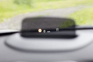 Head-up display in the electric Mini Cooper SE