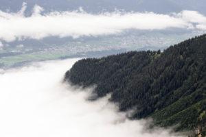 Perspektiven an der Nordkette oberhalb von Innsbruck