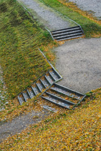 Natural Science, Stairs in a park in autumn