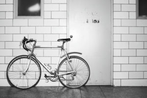 Bicycle within a building