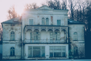 Gebäude, alt, verfallen