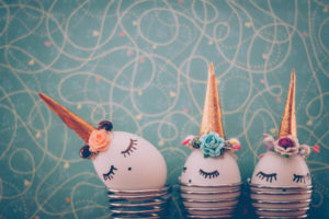 Tinkering idea, eggs, unicorn