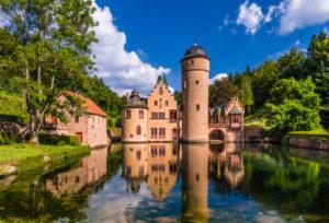 Deutschland, Bayern, Unterfranken, Spessart, Mespelbrunn, Schloss Mespelbrunn