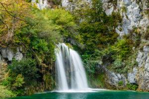 Kroatien, Mittelkroatien, Plitvicka Jezera, Nationalpark Plitvicer Seen, Untere Seen