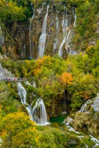 Kroatien, Mittelkroatien, Plitvicka Jezera, Nationalpark Plitvicer Seen, Untere Seen, Veliki slap, Grosser Wasserfall