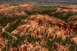 USA, Utah, Garfield County, Bryce Canyon National Park, Amphitheater, Blick vom Upper Inspiration Point