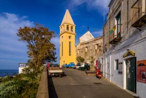 Italy, Sicily, Aeolian Islands, Stromboli, Stromboli, Chiesa San Vincenzo