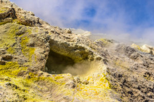 Italy, Sicily, Aeolian Islands, Vulcano, Gran Cratere, Fumarole