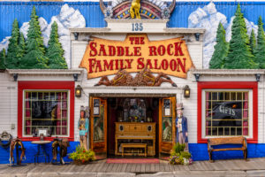 The USA, Wyoming, Jackson Hole, Jackson, The Saddle rock Family Saloon