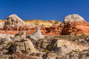 The USA, Utah, Kane County, Kanab, pariah Rimrocks, Toadstools Trail