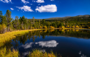 USA, Utah, Dagett County, Manila, Flaming Gorge, Moose Pond