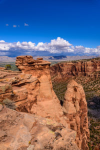 USA, Colorado, Colorado National Monument, Fruita, Pipe Organ, Blick von Otto's Trail