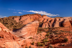 USA, Nevada, Clark County, Overton, Valley of Fire State Park, Fire Wave