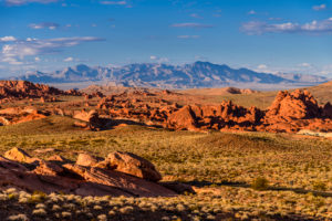 USA, Nevada, Clark County, Overton, Valley of Fire State Park, Felsformationen am White Domes Scenic Byway nahe White Domes