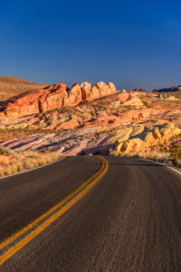 USA, Nevada, Clark County, Overton, Valley of Fire State Park, White Domes Scenic Byway, Pink Canyon