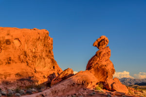 USA, Nevada, Clark County, Overton, Valley of Fire State Park, Felsformationen beim Visitor Center