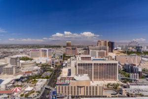 USA, Nevada, Clark County, Las Vegas, Las Vegas Boulevard North, The Strip, View from the Paris Las Vegas Eiffel Tower