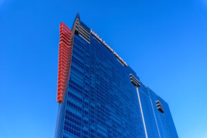 USA, Nevada, Clark County, Las Vegas, East Harmon Avenue, Resort Elara by Hilton Grand Vacations
