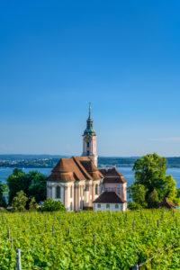 Germany, Baden-Württemberg, Lake Constance, Uhldingen-Mühlhofen, Birnau, pilgrimage church Birnau