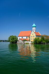 Germany, Bavaria, Swabia, Lake Constance, Wasserburg, Parish Church St. Georg