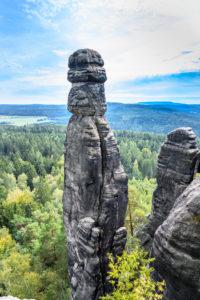 Deutschland, Sachsen, Sächsische Schweiz, Königstein, Pfaffenstein, Felsnadel Barbarine