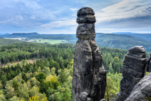 Germany, Saxony, Saxon Switzerland, Königstein, Pfaffenstein, rock needle Barbarine