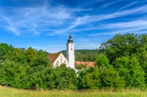 Germany, Bavaria, Upper Bavaria, Tölzer Land, Dietramszell, Dietramszell Monastery, Maria Himmelfahrt monastery church