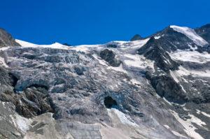 Gletscherbruch am Moirygletscher, Glacier de Moiry, Val d'Anniviers, Wallis, Schweiz