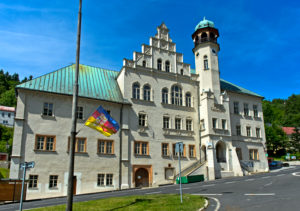 Renaissance town hall, Jachymov, Joachimsthal, Erzgebirge-Krusnohorí mining region, Bohemia, Czech Republic