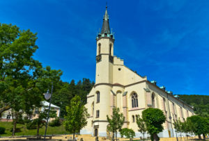 Stadtkirche St. Joachim und St. Anna, Jachymov, Joachimsthal, Montanregion Erzgebirge