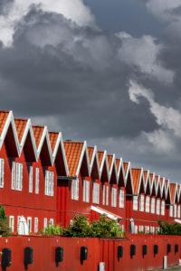 Häuser am Yachthafen Ebeltoft, Dänemark