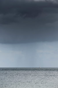 Rain clouds about the Baltic Sea