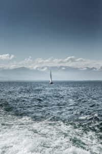 Sailing ship on Lake Constance
