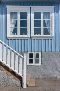 Blue house in Sweden