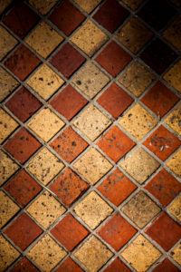 Old historic floor tiles