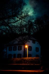 Blaue Stunde in Mespelbrunn im Spessart