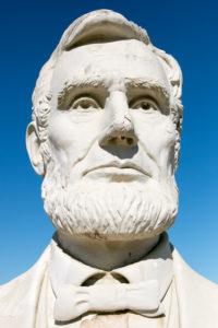 USA Präsidentenköpfe aus Freizeitpark / Presidents Heads in Croaker, Virginia Abraham Lincoln