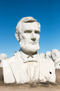 USA Presidential Heads from Amusement Park / Presidents Heads in Croaker, Virginia Abraham Lincoln