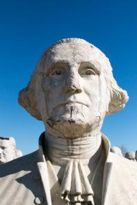 USA Präsidentenköpfe aus Freizeitpark / Presidents Heads in Croaker, Virginia, George Washington