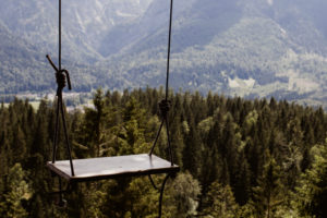 Swing in the forest in Garmisch-Partenkirchen / Instagram hotspot