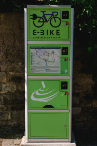 e-bike charging station in Rottendorf near Würzburg
